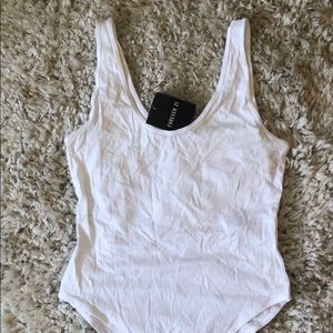 Forever 21 white knit body suit